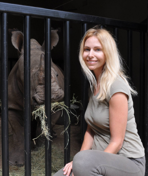 Anneka Svenska at Rhino Revolution orphanage