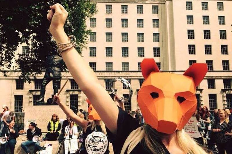 Anneka Svenska I am Fox - Anti Fox Hunting Protest outside Westminster Brian May