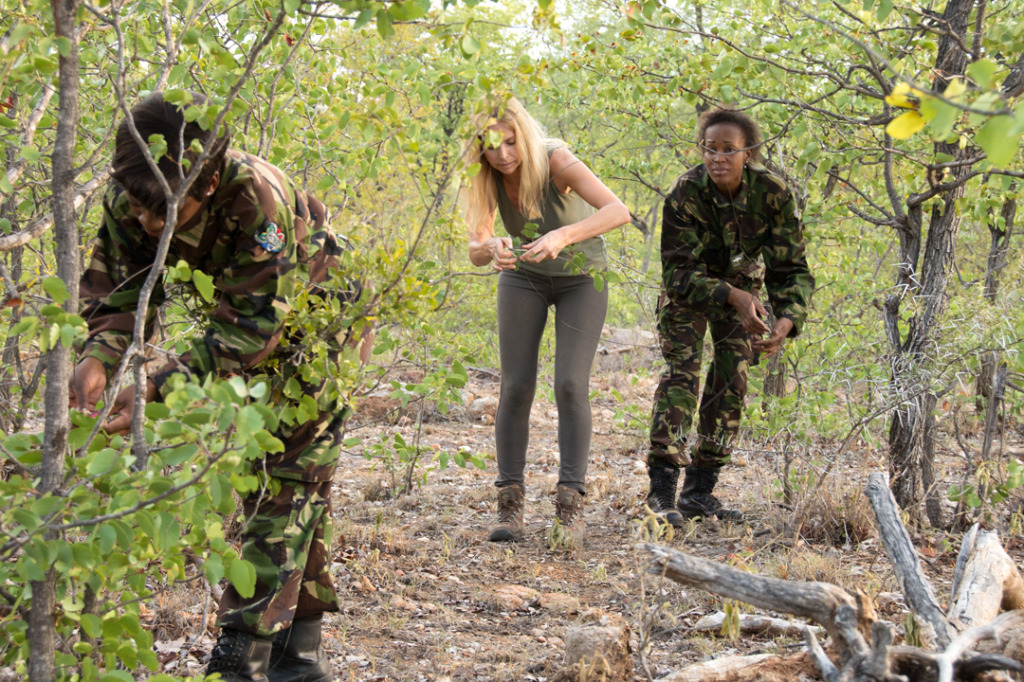 Anneka on patrol with The Black Mambas