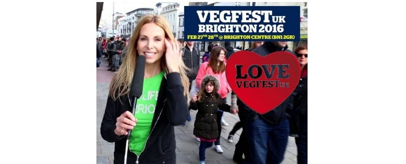 Anneka Svenska Official Presenter for VegFestUK Brighton 2016