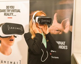 Anneka Svenska iAnimal Virtual Reality film launch London - Animal Equality