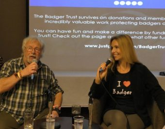 Anneka Svenska interviews Bill Oddie at The Badger Trust Conference