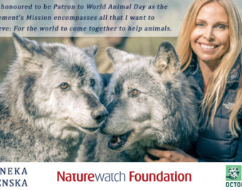 Anneka Svenska announced Patron of World Animal Day