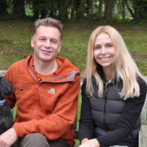 Anneka Svenska and Chris Packham