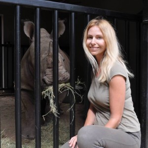 Anneka Svenska and Rhino Orphan South Africa